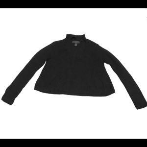 Juniors Black Cutout Boxy Sweater